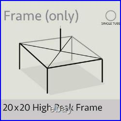 20x20' High Peak Tent Frame Only Commercial Anodized Aluminum Complete Frame
