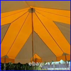 20x20 Pole Tent Weekender Event Party Canopy Yellow White 14 Oz Commercial Vinyl