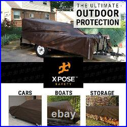 24 x 36 Super Heavy Duty 16 Mil Brown Poly Tarp Cover- Thick Waterproof