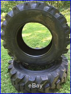2 NEW 16.9-28 Solideal Backhoe Tires R4 HEAVY DUTY 12 PLY 16.9X28
