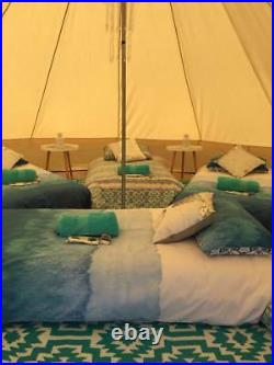 3M4M5M6M Glamping Canvas Bell Tent Waterproof Tipi Teepe Camping Yurt Tent Stove