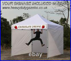 3MT Trade GAZEBO HEAVY DUTY with Signs WATERPROOF POP UP mobile CATERING UNIT