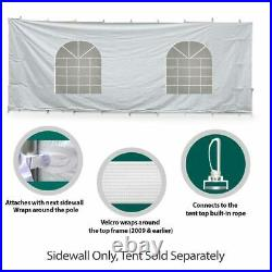 40' Hexagon High Peak Tent Sidewall Kit Solid & Cathedral Window 16 Oz Block-Out