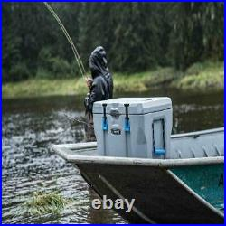 55 Quart Outdoor Cooler Beverage Camping Tailgating Boat Sports Heavy Duty Gray