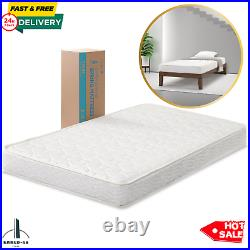 6 Inch Innerspring Mattress FULL Size Bed Extra Firm Quilted Viscolatex Foam NEW