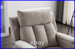 Air Fabric Recliner Chair Living Room Lounge Heavy Duty with Cup Holders Sofa