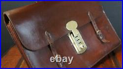 Chestnut Brown 1920s Leather Executives Bridle Briefcase Hand Sewn Sheffield