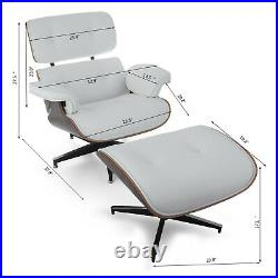 Classic Classic Style Lounge Chair & Ottoman Recliner PU Leather Heavy Duty PRO