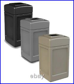Commercial Outdoor Trash Can Large 42 Gallon Site Lot Garbage Waste Container
