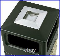 Commercial Trash Garbage Can Outdoor Indoor Heavy Duty Large Waste Recycle Bin