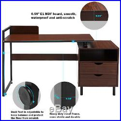 Computer Desk Home Office Corner Study Desk With Drawer Heavy Duty Antique Type