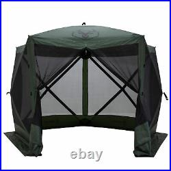 Gazelle GG501GR Pop Up Portable 4 Person Camping Gazebo Day Tent with Mesh Windows