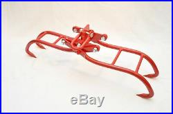 Heavy Duty SOLID STEEL 36 Quad Claw Timber Log Lifting Tongs Grappler Grabber