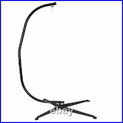 Heavy Duty Steel Hammock C Stand Solid Frame Stand for Porch Swing Hammock Chair