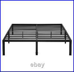 Heavy Duty Steel Platform Bed Frame Metal Bed Frame with Storage 14 in King Size