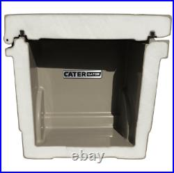 Heavy-Duty Tan Brown 45 Qt. Roto Molded Cooler 10 DAY Ice Triple Insulated Chest