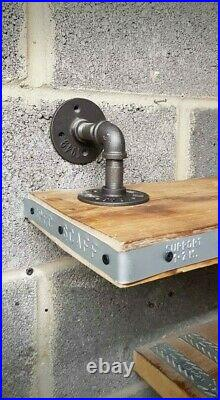 Industrial Retro Quirky Steampunk Shelf With Gauges