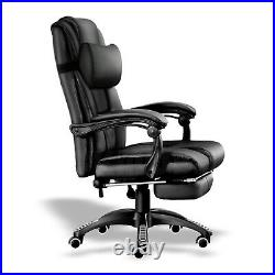 Leather Office Chair Adjustable Gaming Swivel Recliner home Computer Desk chair