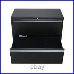 Metal Garage Tool Lateral File Storage Cabinet Steel Heavy-Duty Lackable Drawer