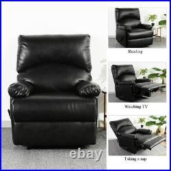 Modern Leather Recliner Chair Manual Single Couch Heavy Duty Sofa Lounge