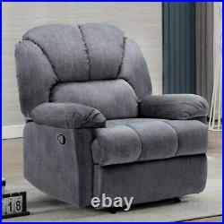 Overstuffed Manual Recliner Chair Padded Seat Armrest Heavy Duty Sofa Lounge