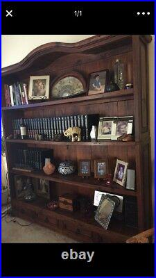 Rustic Mexican Bookshelf, Handcrafted, Solid Pine Wood
