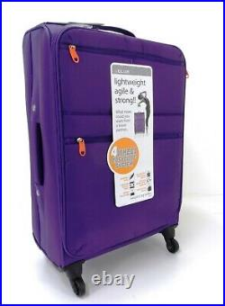 Set Of 3 Lightweight 4 Wheel Spinner Suitcase Trolley Case Travel Luggage Bag