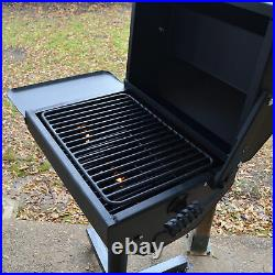 Titan Great Outdoors Covered Park Grill with Shelf 390 Square in. Heavy Duty