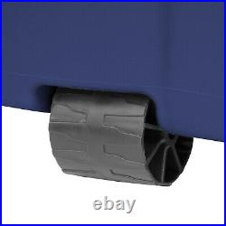 Tote Storage Box Set of 4 Wheeled Latch Large Container 45 Gallon Heavy Duty NEW